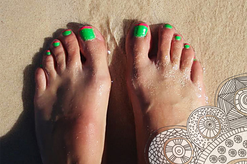 Beach feet by Holly- Lois Rix Reflexology client