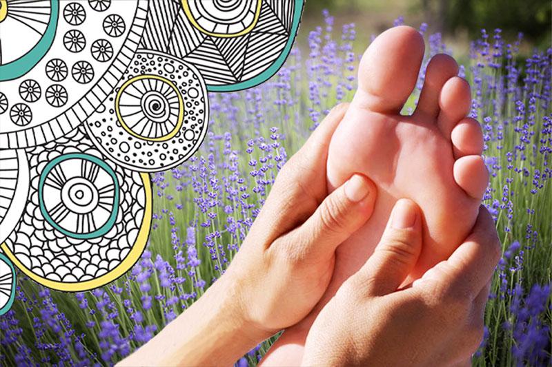 Lois Rix foot reflexology using essential oils in Kelowna