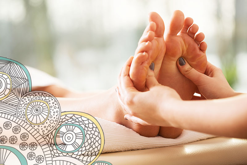 Lois Rix foot reflexology using essential oils in Kelowna